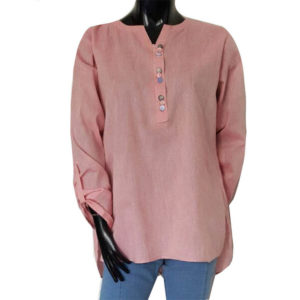 khaddar top pink
