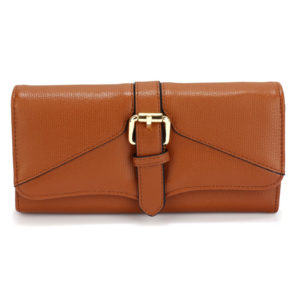 brown buckle detail women wallets online in pakistan