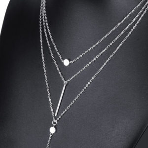 3 layer long chain necklace