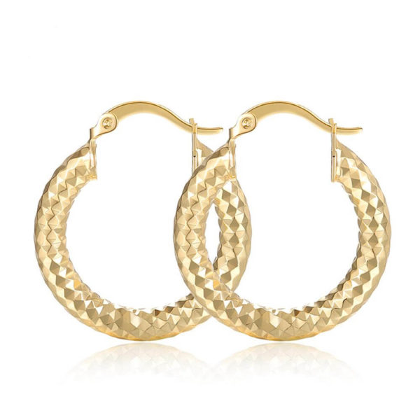 small circle hoop earring shinny gold