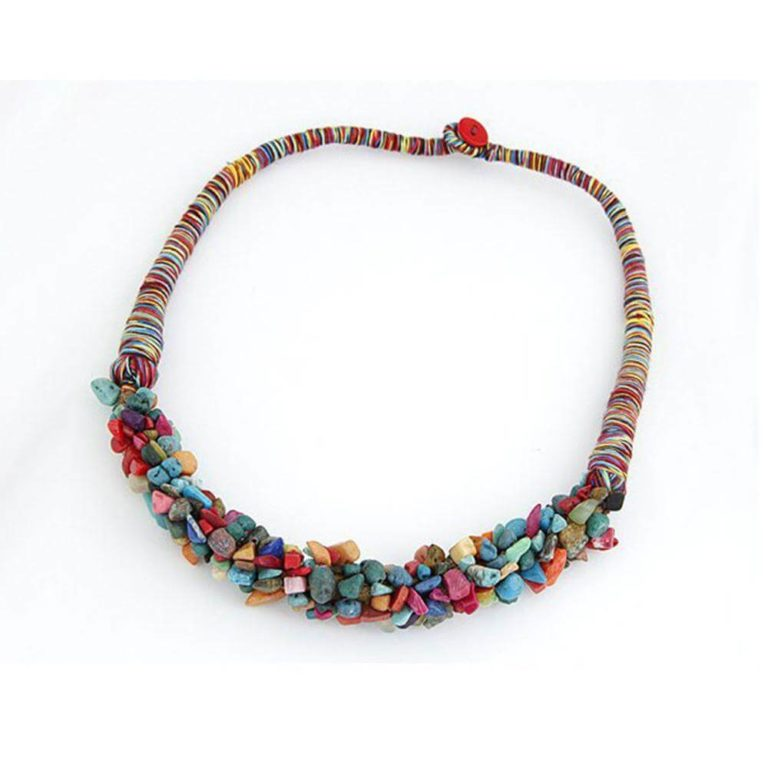 stone necklace latest design multi color best match to summer dress