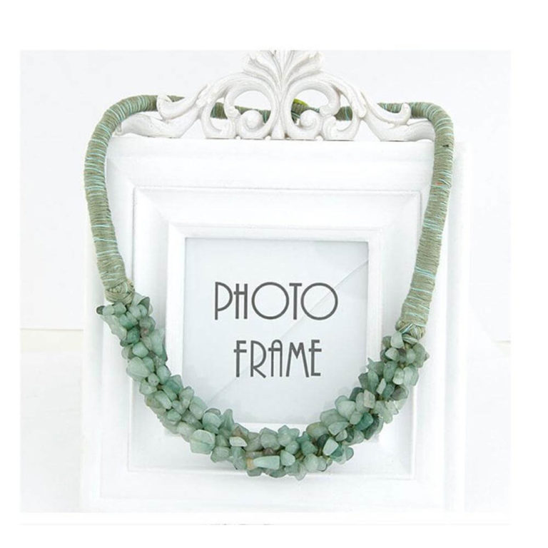 stone necklace green best match to summer dress