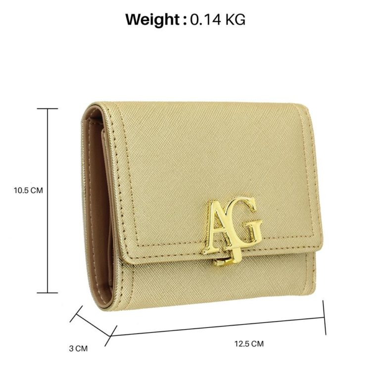 flap purse wallet with gold metal work