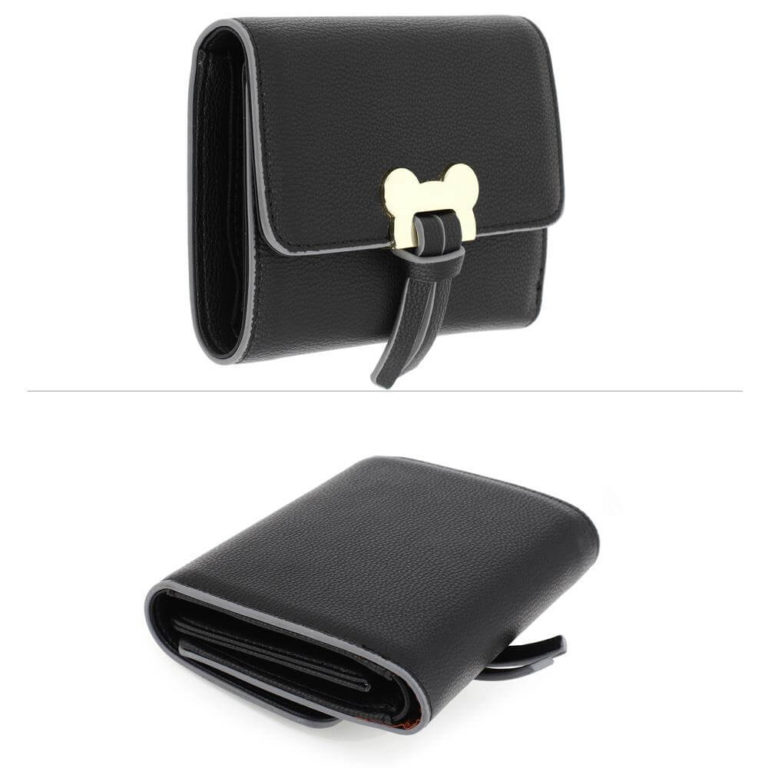 black flap purse wallet