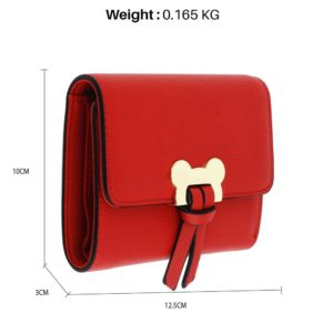 red flap purse wallet