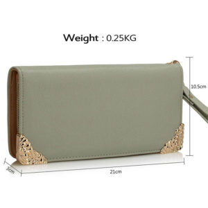Purse Wallet with Metal Decoration