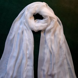 White Chiffon Dupatta Large Soft - Length 2.5 Yards