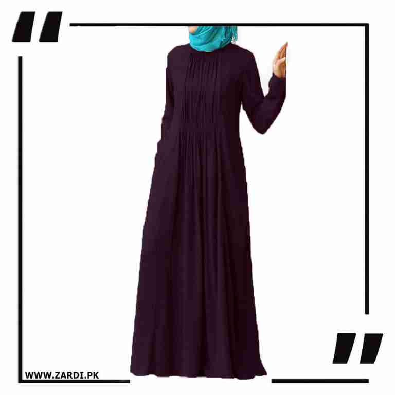 mahroon Ruched Abaya