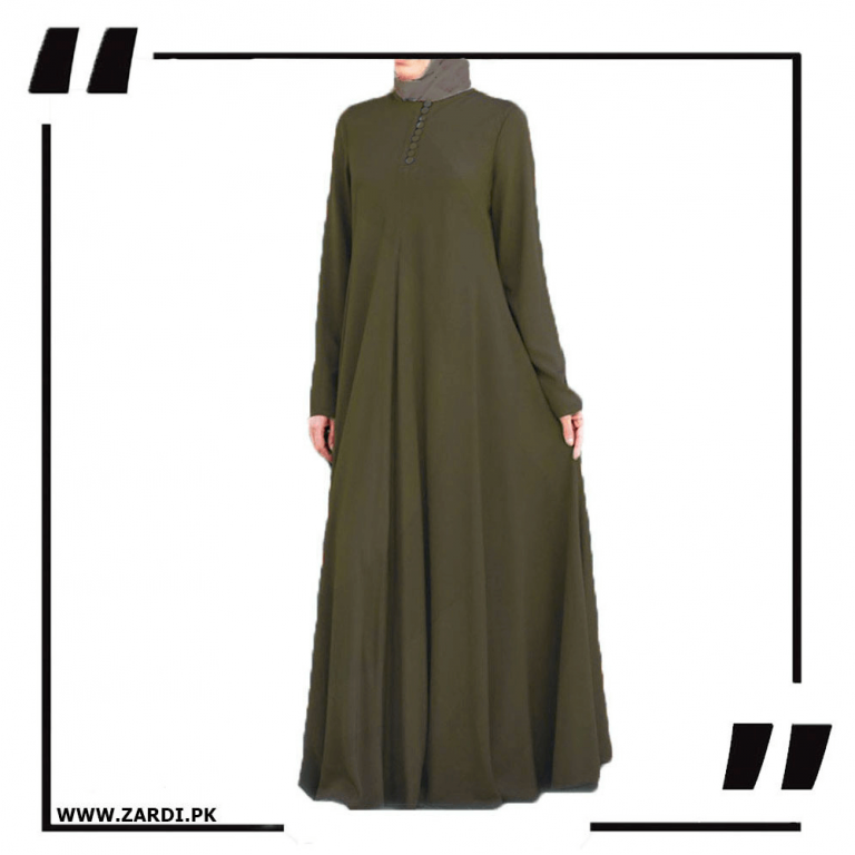 olive Airline Maxi with Front Platelets