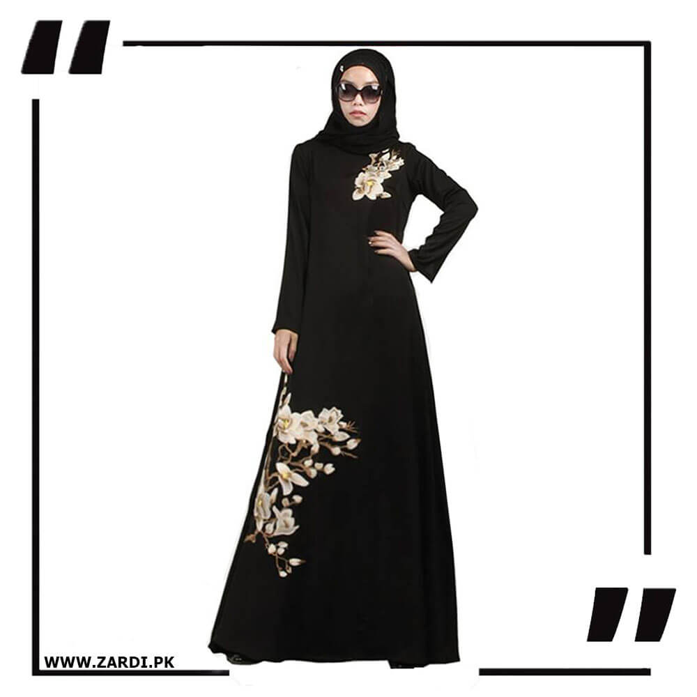 black Embroidered Abaya