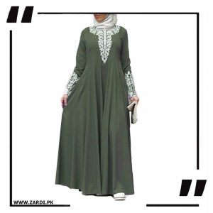 Silver Jewel Embroidered Maxi abay