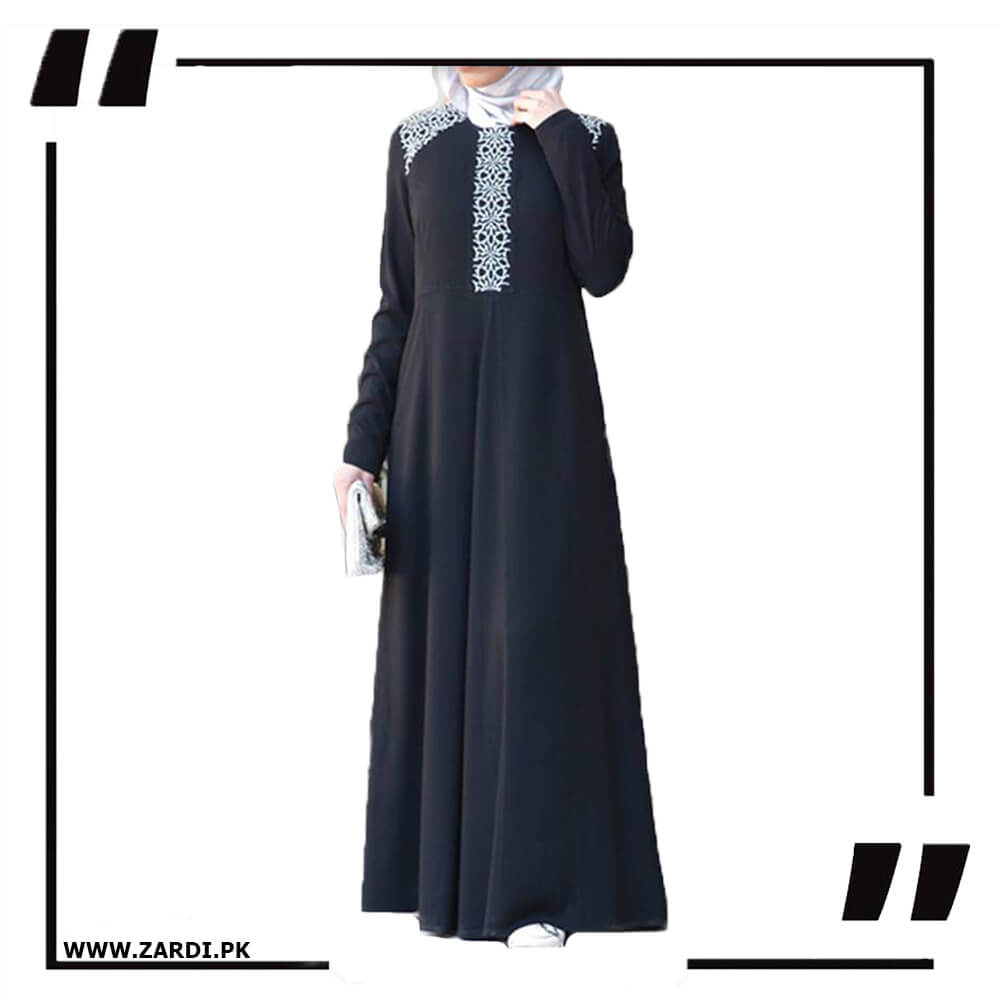 White Embroidered Abaya