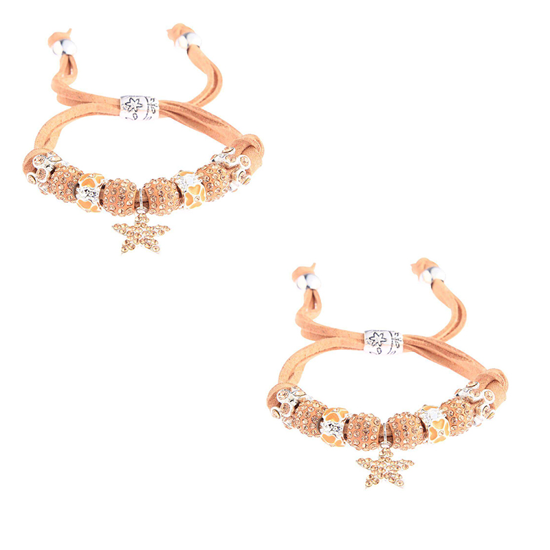 Champagne Crystal Bracelet With Star Charm