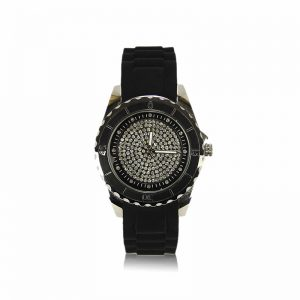 Black Crystal Watch For Her