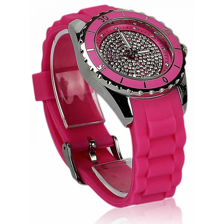 Fuchsia Crystal Watch For Her