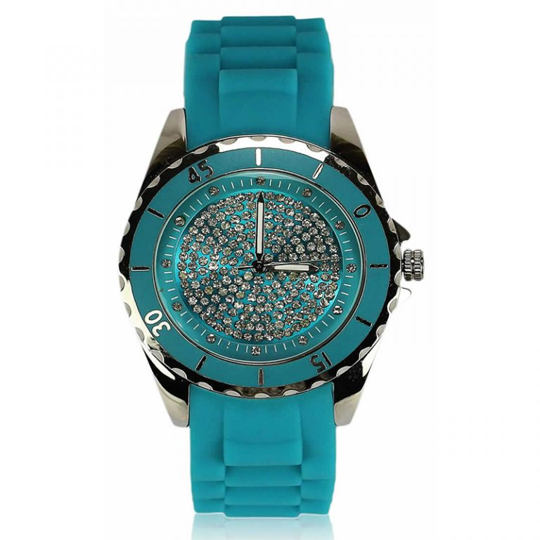 Teal Crystal Watch For Her