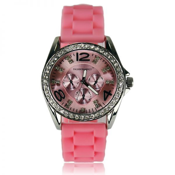 pink Diamante Watch For Women