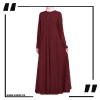 Burgundy Airline Maxi with Front Platelets