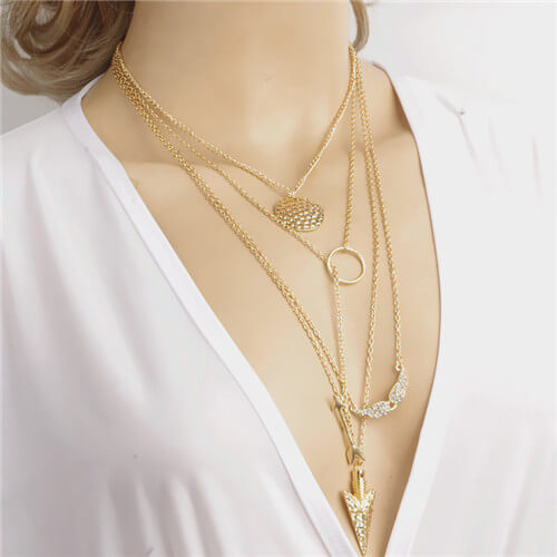 Multi Layer Gold Chain Necklace