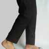 Plain Trouser Pant For Women - Pure Cotton - Black