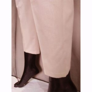 BeigeTrouser With Beige Embroidery