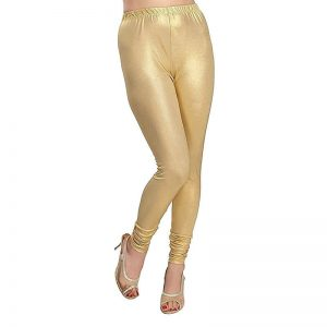 Golden Stretchable Leggings Lycra Tights