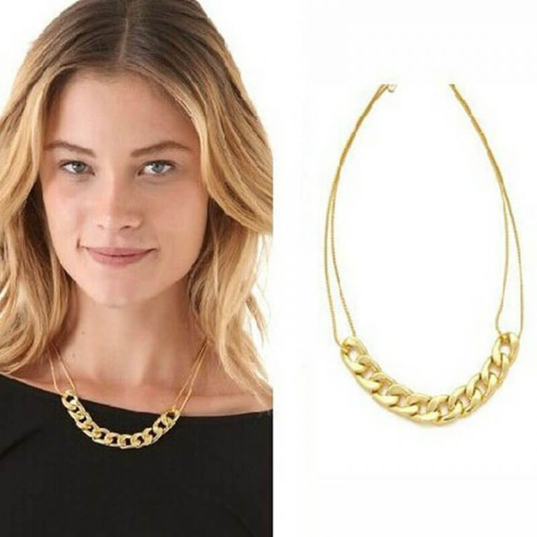 Gold Metal Trendy Necklace For Her