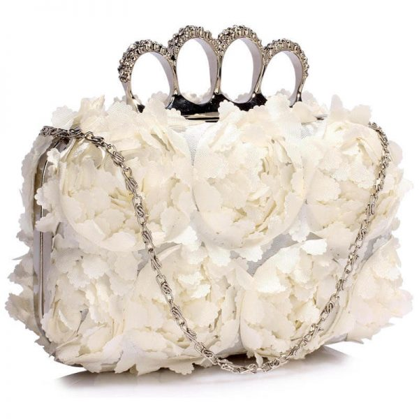 Ivory Womens Knuckle Rings Evening Bag - LSE00145
