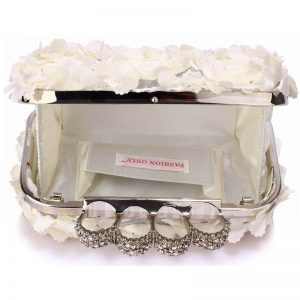 Ivory Womens Knuckle Rings Evening Bag -