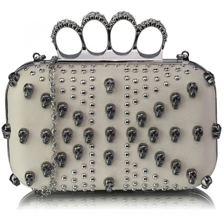 Ivory Womens Knuckle Rings Evening Bag