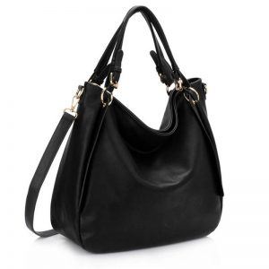 Large Hobo Shoulder Bag BLACK