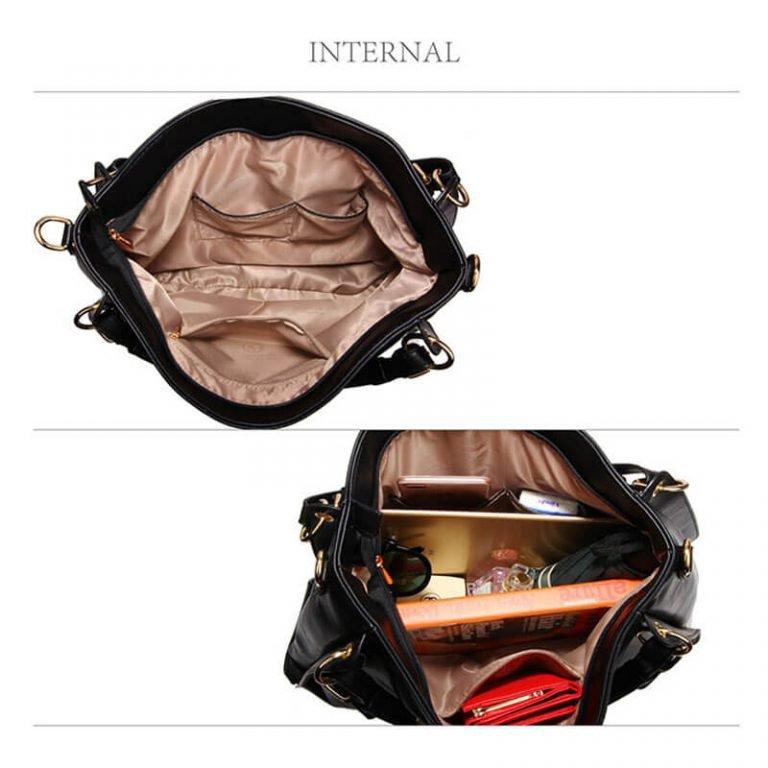 Large Hobo Shoulder Bag BLACK