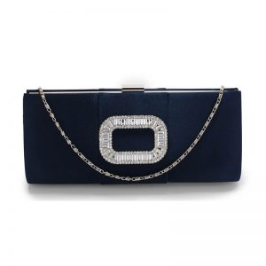 Navy Crystal Evening Clutch Purse