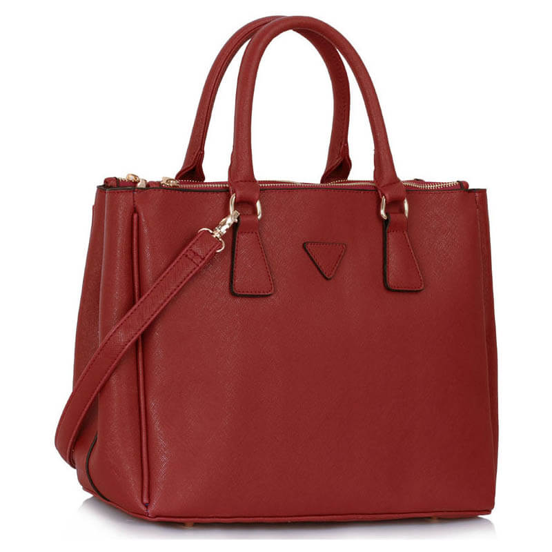 Grab Tote Handbag BURGUNDY