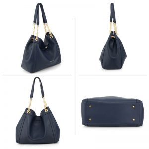 Navy Fashion Hobo Shoulder Bag