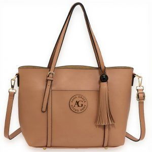 Nude Anna Grace Fashion Tote Bag With Tassel