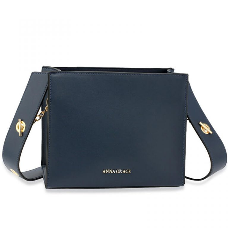 Navy Anna Grace Fashion Tote Bag