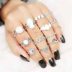 14 Pc Rings set silver