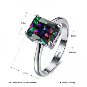 AAA Zircon Silver Ring For Her Multi Stone
