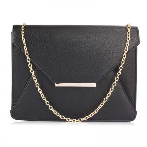 Black Flap Clutch Purse