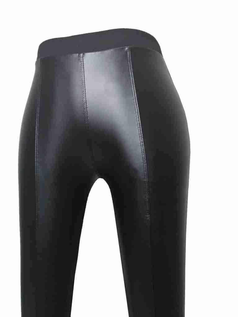 Leather Pant Stretchable Shinny Black