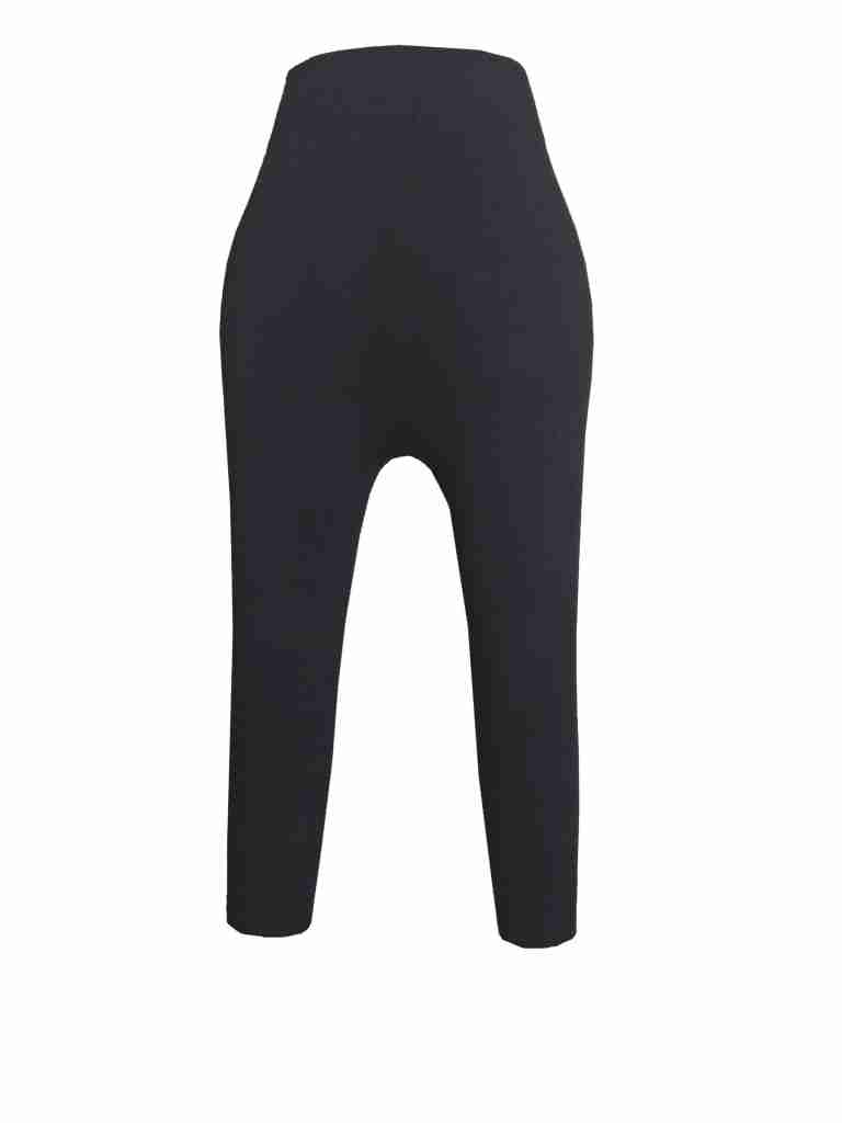Black High Waist Leggings - Stretachable Lycra