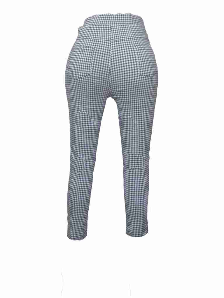 Check Printed Ladies Cotton Pant - Stretchable