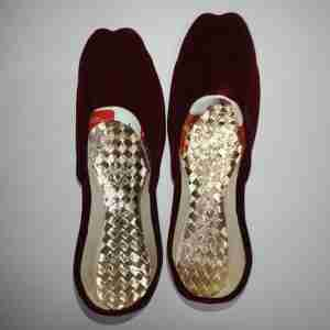Maroon Suede Khussa Shoes - Non Slip