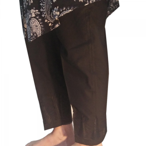KT49 Black Embroided Trouser - Pure Cotton