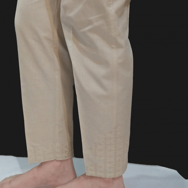 Cross Stitch Embroided Trouser - Pure Cotton