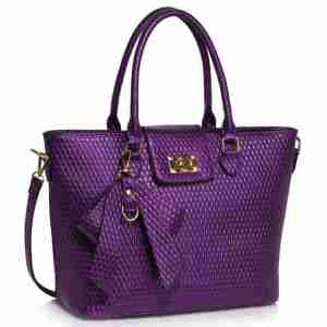 Purple Grab Bag With Bow Charm