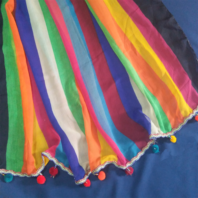 Chiffon Dupatta With Ball 1