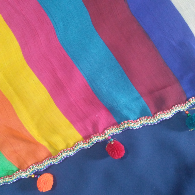 Chiffon Dupatta With Ball 2