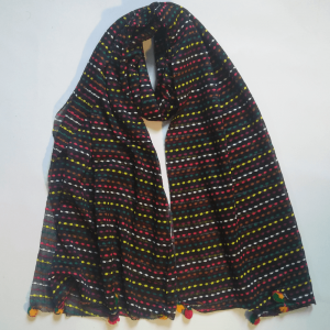 Multi Jersey Scarf Stretchable With Balls